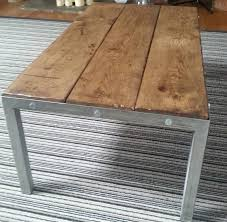 retro style oak coffee table by urban metalworks