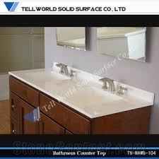 Solid Surface Bathroom Countertops by Custom Vanity Tops Solid Surface Bathroom Countertop With