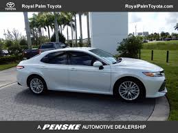 2018 new toyota camry xle automatic at royal palm toyota serving