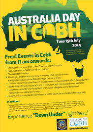 tuesday 15th july is australia day in cobh cobh