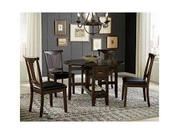 aamerica brooklyn heights 5 piece gate leg dining set with t back