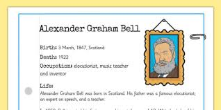 facts about alexander graham bell s telephone alexander bell significant individual fact sheet alexander
