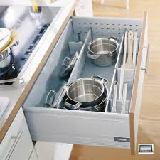 pan set 60 blum pan dividers provide safe storage for pots