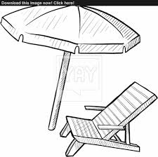 Beach Lounge Chair Lounge Chair Drawing S On The Beach Home Designs Doodle Style