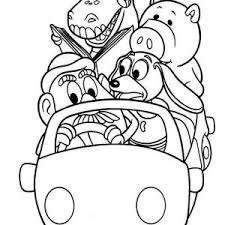 jessie riding bullseye toy story coloring jessie riding