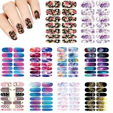 nails art lot flower mystery galaxies design stickers for nails
