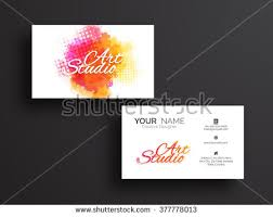 Business Cards Front And Back Business Card Black Cat Design Vector Stock Vector 301360730