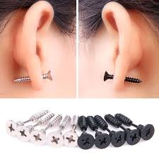 black stud earrings for men men earrings men hoop earrings black icedteafairy club