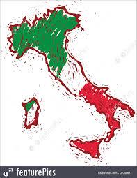 Italian Map Europe Italy Map Stock Illustration I2729068 At Featurepics