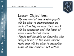 design brief a level food technology gcse year 10 design brief for main meals ppt