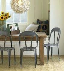 farmhouse table with metal chairs metal dining chairs farmhouse table metal chairs inoweb info