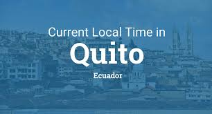 Utc Time Zone Map by Current Local Time In Quito Ecuador