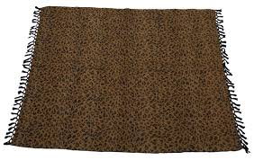 leopard print home decor 60x50 u201d hand woven throw blanket in velvet u0026 cotton with leopard