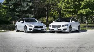 infiniti q50 2017 white 2016 infiniti q50 red sport 400 awd vs 2017 lincoln mkz reserve