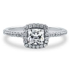 promise ring sterling silver cushion cubic zirconia cz halo promise engagement