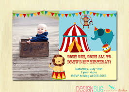Invitation Cards For First Birthday Circus 1st Birthday Invitations Vertabox Com