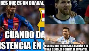 Barca Memes - barcelona vs espanyol memes del partido en facebook por triplete de