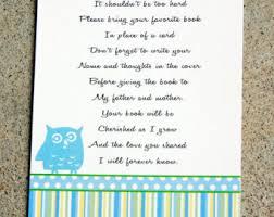 baby shower book instead of card poem baby shower poem invite vertabox