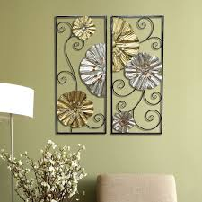 Metallic Home Decor by 2 Piece Metallic Fanned Flower Panel Wall Décor Set U2013 Stratton