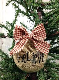 country christmas tree ornaments to make easy homemade country