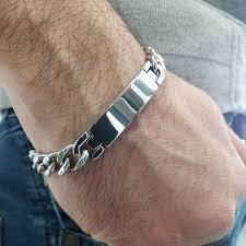 name link bracelet images Personalized stainless steel 316l id bracelet for men jpg
