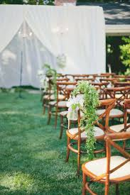 outdoor wedding ceremony chair decorations
