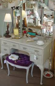 Antique Vanity With Mirror And Bench - table beautiful antique vanity table with mirror and bench vintage