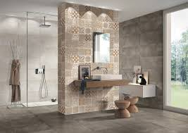 Beige Bathroom Designs by Ceramic Tile Bathroom Designs Swing Glass Door Using Metal Door