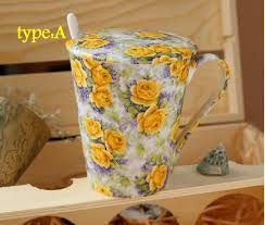 aliexpress com buy classic roses ceramic cup beautiful flower
