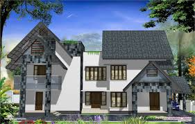 eco friendly houses western style home design in kerala western