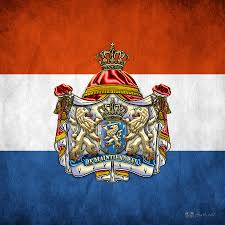 coat of arms and flag of netherlands digital art by serge averbukh