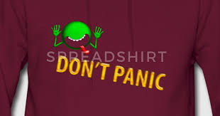 hitchhikers guide to the galaxy movie don u0027t panic hoodie spreadshirt