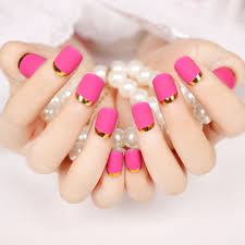 aliexpress com buy fashion matte pink opposite french nail