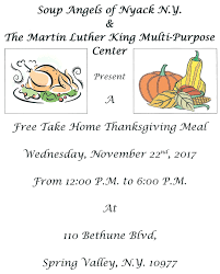 free take home thanksgiving meals martin luther king multi purpose