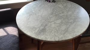 Marble Bistro Table Defective West Elm Marble Bistro Table Second Table Flickr