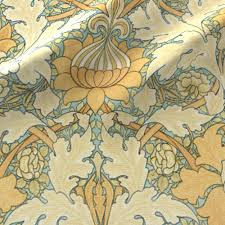 william morris growing damask fabric peacoquettedesigns