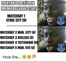 English Premier League Memes - evertons 20172018 marcos fussballecke premier league start matchday