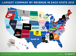 Map East Coast Florida by Largest Companies By Revenue In Each State 2015 Map Broadview