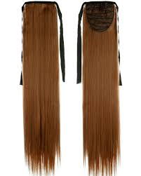 Pony Wrap Hair Extension by Long Straight Clip In Pony Tail Hair Extension Ribbon Wrap Around