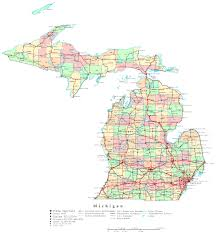 Michigan State Map Map With Cities Michigan State Map With Cities And Michigan Road