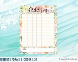 order form templates printable floral flower wedding planner