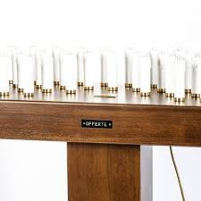 candelieri votivi candeliere votivo banco portalumi elettrico blindato legno tinto