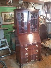 Antique Desk Secretary by John Mark Power Antiques Conservator Mahogany Secretery Desk Ca