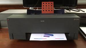 alps md 1000 printing test page youtube