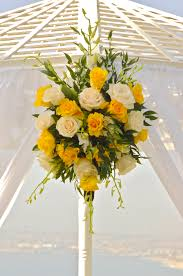 wedding arch gazebo yellow wedding arch flowers