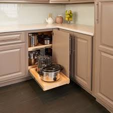 blind corner kitchen cabinet ideas blind corner cabinet solutions shelfgenie
