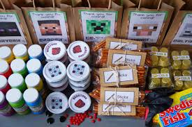 minecraft goody bags minecraft party with free printables