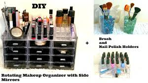 diy 1 nail polish u0026 makeup organizers with side mirrors u0026 lights