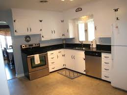 Kitchen Cabinets Painted White Redone Knotty Pine Kitchen Painted Cabinets Look Pretty Good