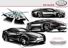 supercar drawing kia glare concept car guiye valdivia draw to drive